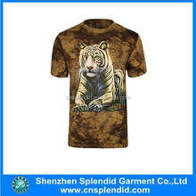 China wholesale sublimated printing tiger 3d t shirt online shopping