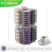 Stainless steel 64pcs coffee capsule storage rack for Tassimo