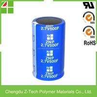 EDLC 2.7v 500F super capacitor Supercapacitors capacitor bank