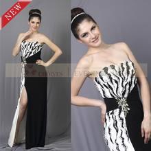 CY90103 formal en blanco y negro vestidodenoche china alibaba
