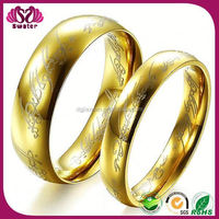 Popular Ring With Gold Plated 18 Carat Yellow Gold Wedding Rings