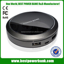 HC-E1 led logo 7800mah power bank,portable dual usb output charger,power banks for tablet use