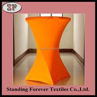 2015 New Design clear 100 polyester spandex plastic tablecloth rolls