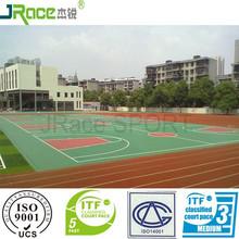 Guangzhou factory of outdoor rubber flooring basketball court