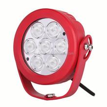 70W high power led work light ,7pcs*10w 6 inch flood beam LED Work roof Auto ATV 4WD 4x4 SUV TRUCK CAR 12v/24V light 70w