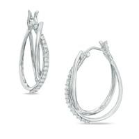 SJE002A Amazing Cross Stylish Rhodium Plated White Zirconia Paved Clip on Earrings Bridal Gift