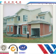 Metal building materials prefab villa furnished luxury prefab villa house