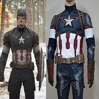 Hot The Avengers Age of Ultron Costume Captain America Steve Rogers Suits Cosplay costume 2015 New Marvel Superhero Outfits