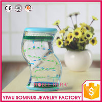 dynamic oil drop sand hourglass acrylic sand timer for valentine's day B04918