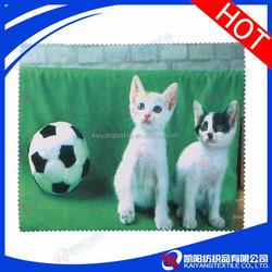 cute cat digital printing cellulose cleaning cloth in bulk