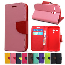For iPhone 5s TPU +PU Phone Case,Fancy dual Colour wallet Case for iPhone 5s