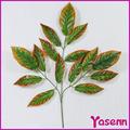 2014 ysf0319 venda quente articificial tecido decoração de folhas de plástico folhas de manga