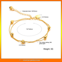 gold anklet jewellery factory from China