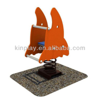lovely design outdoor playground spring rider for Amusement park