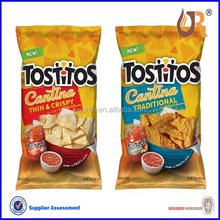 2015 new color printed potato chips plastic packing bags