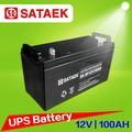 12 Volt 100AH ciclo profundo recargable de almacenamiento rendimiento de baterías de plomo ácido