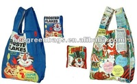 Polyester nylon bag fold pocket with Separated pouch