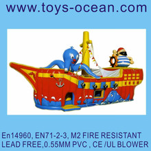 inflatable sailer bouncy, infaltable sailer slide, inflatable ship slide