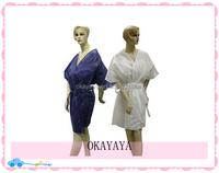 2015 High Quality Ladies kimono PP Nonwoven Disposable kimono For Spa/ Beaality PP Nonwovuty Salon/Hotel Use soft