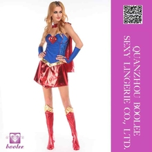 Wholesale low price popular style Sexy Supergirl One Piece Adult Women's Costume Halloween Sexy party cosplay