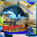 508-1hallowmas regalos rc 2 canales inflable volar los juguetes de los animales tiburón pescado para los niños