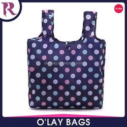 Yiwu wholesale cheap folding nylon plastic shopping bag