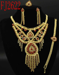 Artificial Bridal Jewelry Sets/18k Gold Plated Jewelry(FJ2622)in stock/prompt delivery/high quality/best price/fashion/popular
