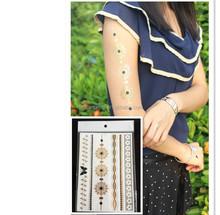 hot sale sticker tattoo waterproof tattoo metal tattoo sticker body stickers