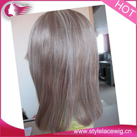 Large In stock High quality 100% indian front lace wig natural hair wig for men