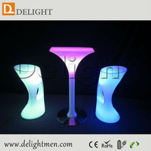 Commercial Furniture Outdoor 16 Color Remote Control Led Glowing Bar Chair