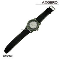 Hot sales cheap leather watches with Japanese movement good waterproof, stone watch