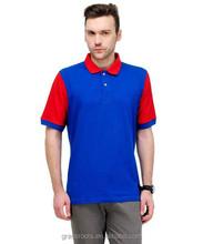 High Quality Men's Fresh Color Polo Shirt red & blue Collar