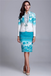 Lady Formal Dress Printing Beading Skirt Suit