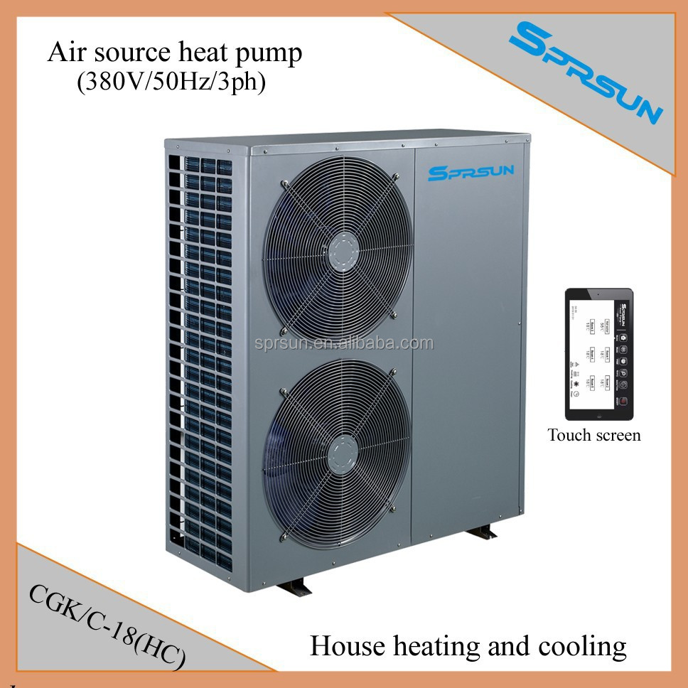heat pump air conditioner system for central heating and
