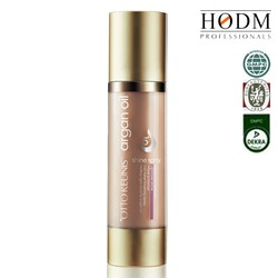 Argan oil spray--- lightweight, alcohol-free, non-greasy formula Provides color and thermal protection