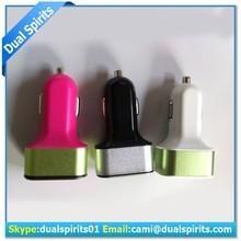 intelligent 6.6A / 33W Premium Aluminum 3 USB Car Charger wholesales