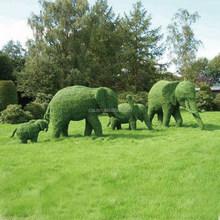 Elephant green sculpture plant sculpture SIMULATION fake plant PLASTIC art sculpture