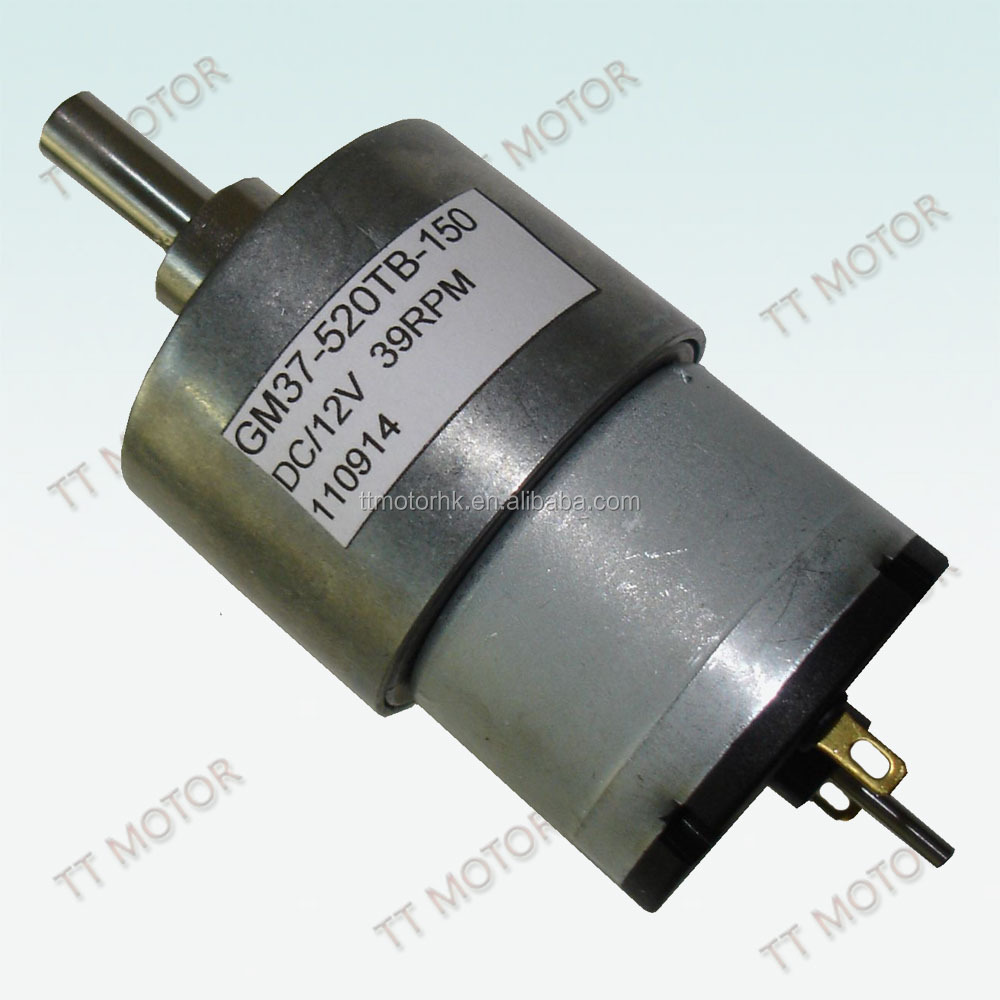 Low Rpm High Torque 37mm Small Electric 24v 12v Dc Motor