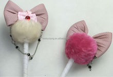 Wholesale charm cute fluffy feather gift pen