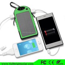 Dual USB 5000mAh Waterproof solar charger for mobile phone