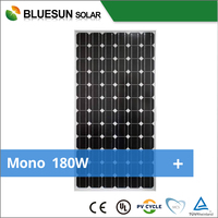 CE TUV certified high efficiency mono 185W mono solar panel with cheaper price