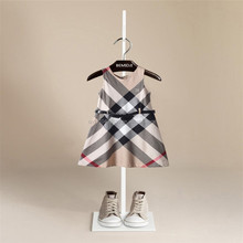 frock design for baby girl Big TongGe sleeveless spring Summer and autumn is tie-in dress