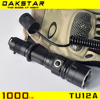 DAKSTAR Hot Selling TU12A 1000LM 18650 Aluminum Side Switch Stepless Diming Professional Tactical Flashlight