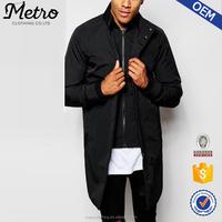 2015 OEM Custom Design High Quality Men Black Bomber Trench Coat