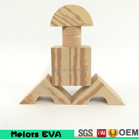 Melors Best wholesale kid toy Intelligence large eva foam Wooden grain building blocks/kids building blocks with factory price