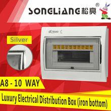 10WAY silver mcb power distribution box