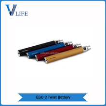 Green healthy ego c twist with variable voltage 3.2V to 4.8V baterry 650mah 900mah 1100mah ego c twist 650mah e cigarette