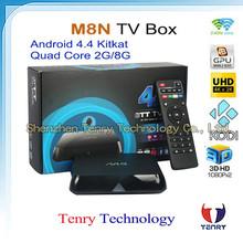 Best Original M8/M8N Android TV Box Amlogic S802 Quad Core XBMC kodi Android 4.4