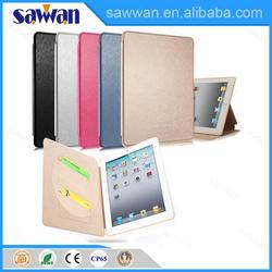ultrathin book style pu leather case for ipad 4