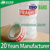 Custom Company Logo Water-Proof Adhesive Bopp Self Adheisve Tape Plant